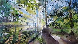 "Watercolor painting ""Sunlight"""