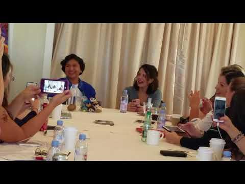 Alanna Ubach Mama Imelda from Coco and Anthony Gonzalez singing in Spanish!