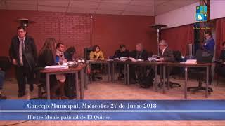 Concejo Municipal Miércoles 27 Junio 2018 -  El Quisco