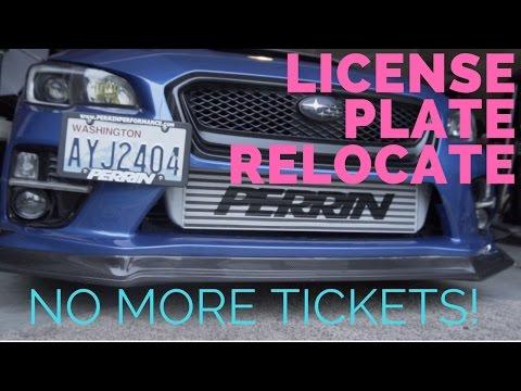 STi Perrin License Plate Frame Relocation Kit for 2015-2017 Subaru WRX