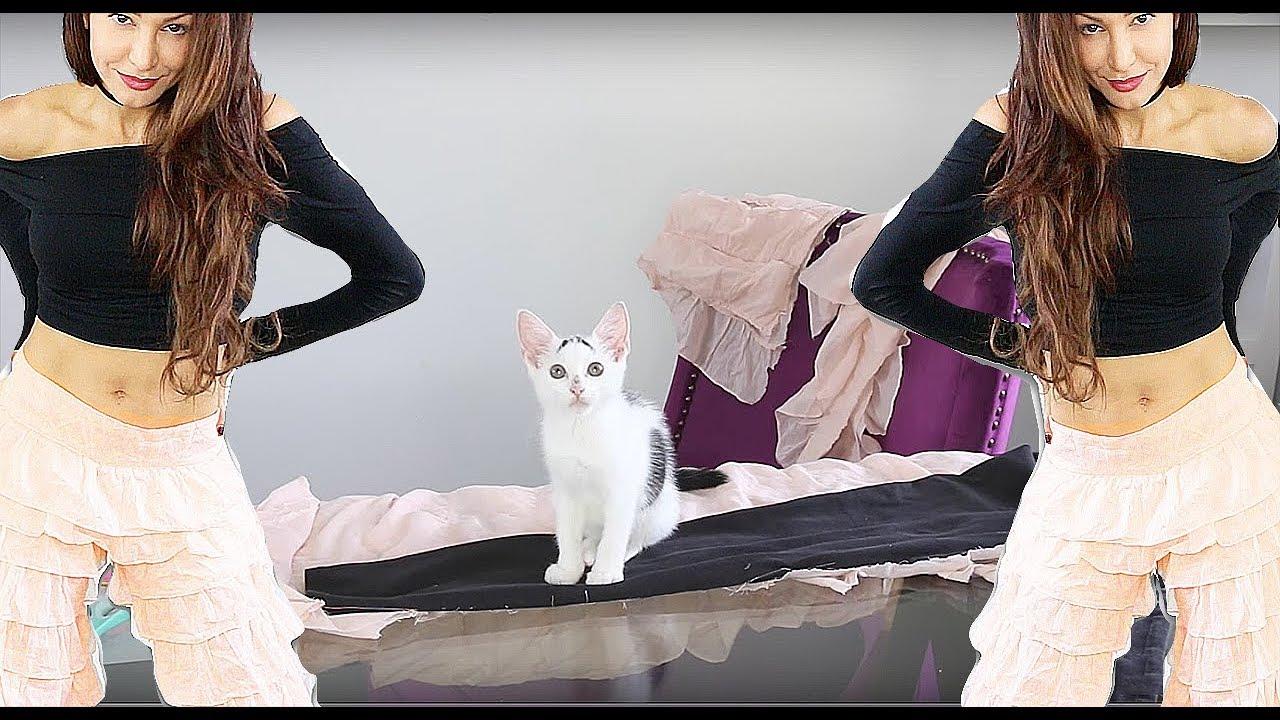 917c03a9e9d Fashion Hack - DIY Ruffle Pants - YouTube