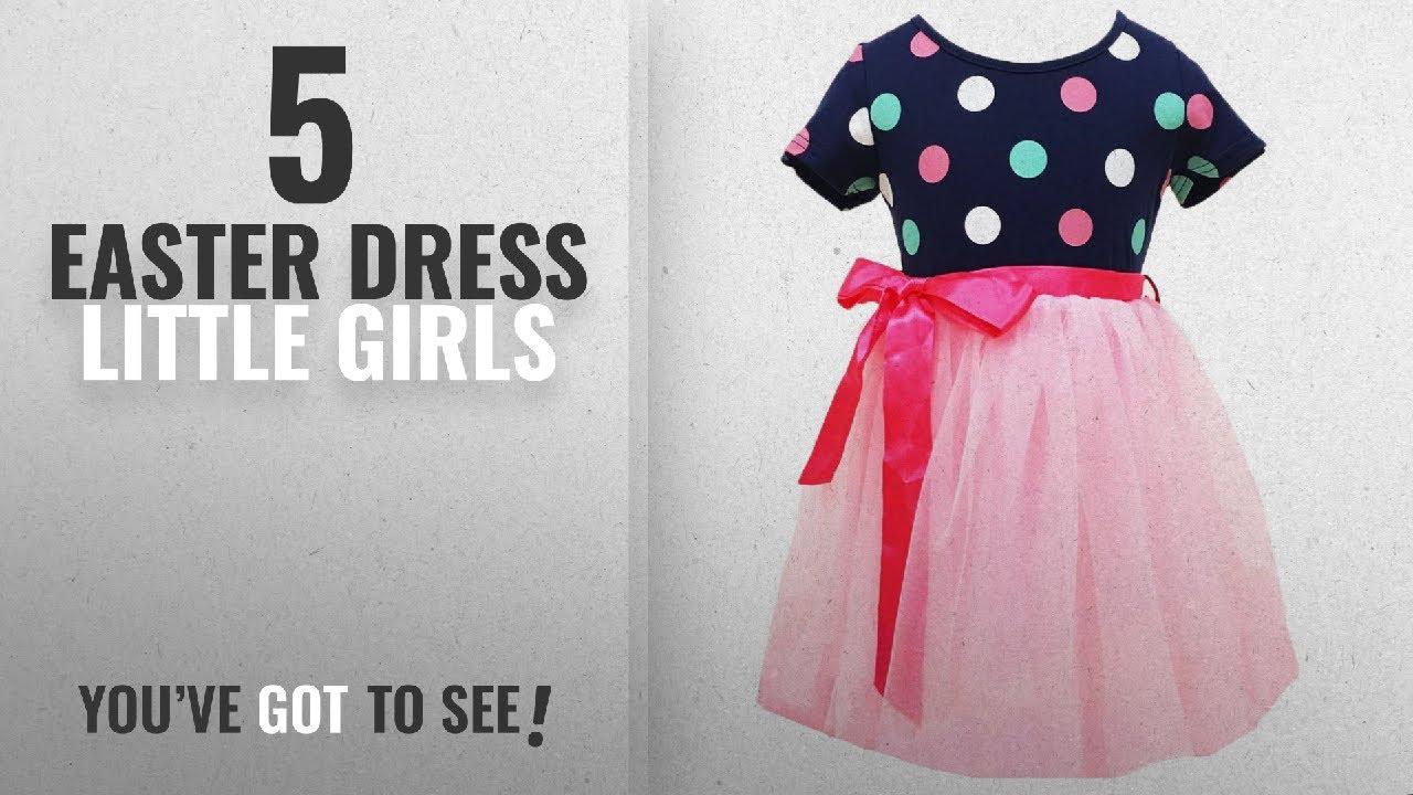 bbe4c2875cf61 Top 10 Easter Dress Little Girls [2018]: Little Girls Tutu Dresses,Toddler  Polka Dots Dress,Pink