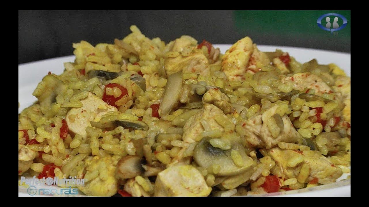 Arroz salteado con champi ones y pechuga de pollo cptv - Salteado de arroz ...