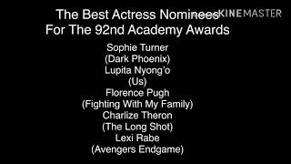 Here's The Best Actress Nominees For The 92nd Academy Awards (For Academy Award Fans)