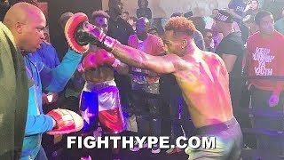 JERMELL CHARLO SHOWS MAYWEATHER HIS SKILLS; WORKS THE MITTS AHEAD OF HARRISON CLASH