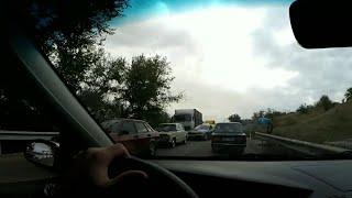 ДТП на Херсонской трассе. Километровый затор