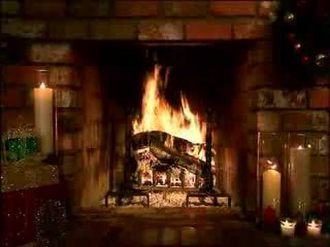 Living Fireplace Christmas Scene YouTube - Christmas cabin fireplace scenes