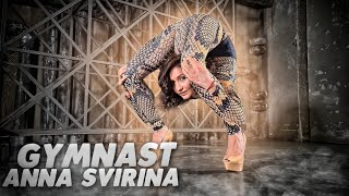 Gymnast Anna Svirina doing ext…