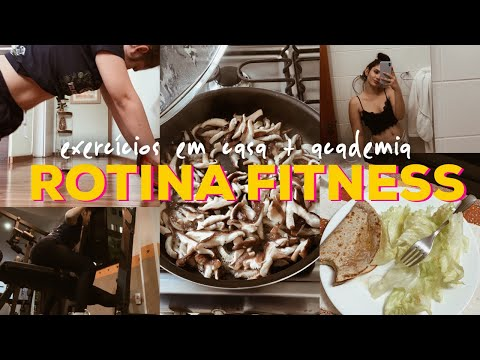 Um Dia Na Minha Rotina Saudável   Exercícios Em Casa + Academia + Receita Fit