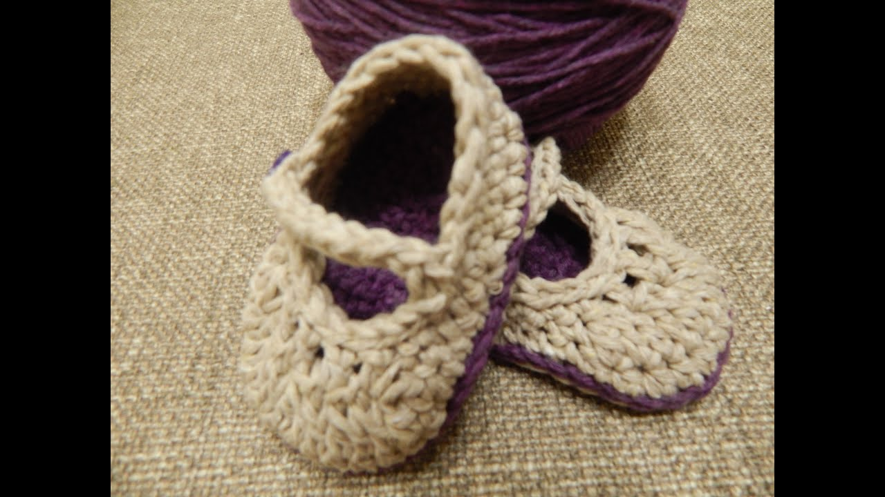 Crochet Tutorial Zapatos Bebe : Zapatitos Crochet - YouTube