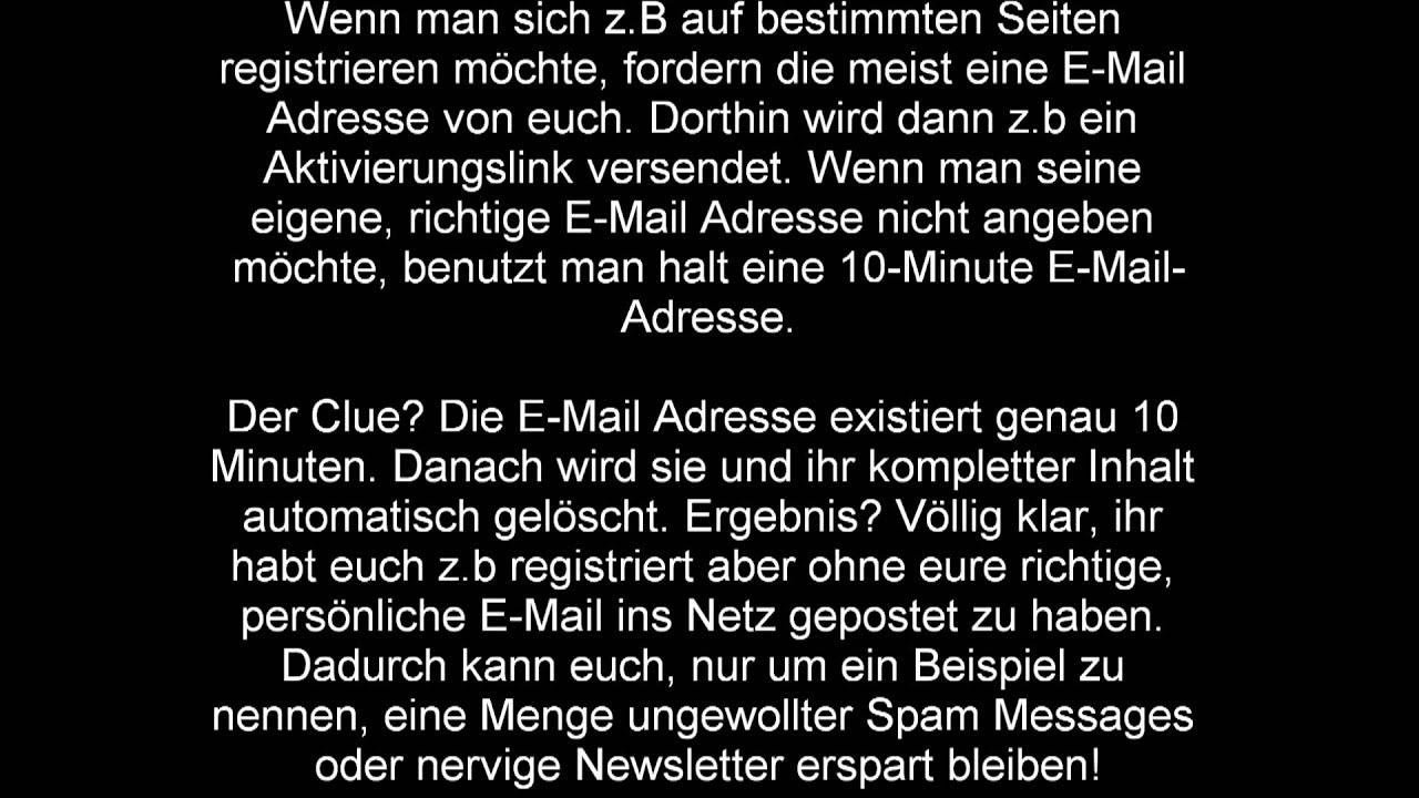 richtige email adresse