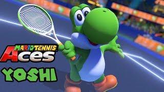 Mario Tennis Aces Yoshi Showcase (Special Intro And Shot,Trick Shot , Losing ,Winning ,poses)