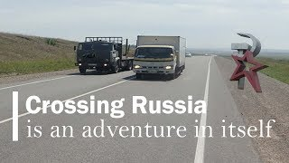 ep1 Russia motorcycle traffic | riding a motorcycle here is an adventure in itself