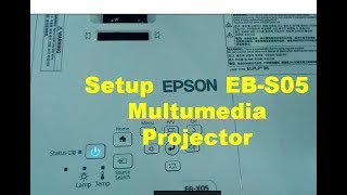 Projector Setup & Install Epson EB S05 Multumedia Wireless Projector Setup