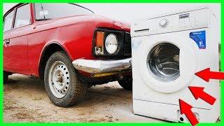 EXPERIMENT CAR VS WASHING MACHINE!