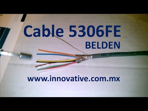 Cable 5306FE Belden, 8 conductores x 18 awg, blindado