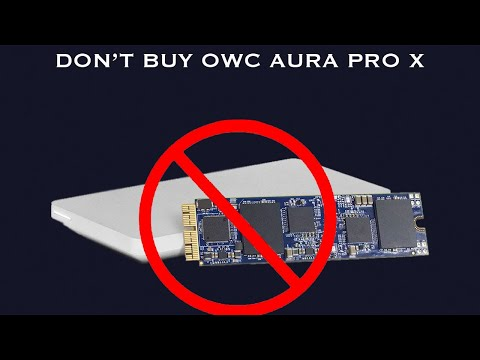 OWC Aura Pro X 1TB SSD - DO NOT BUY! DEAD IN A MONTH