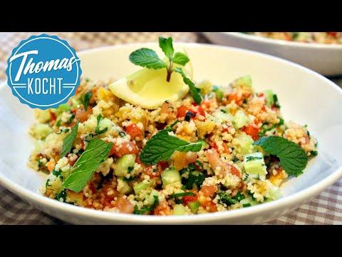 Couscous Salat, vorsicht lecker! / Couscous Salat mit gerösteter Paprika!