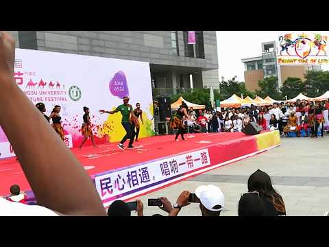 Africans Dance on Jiangsu University in Zhenjiang Jiangsu China
