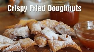 Hungarian Crispy Fried Doughnuts (Csöröge fánk)