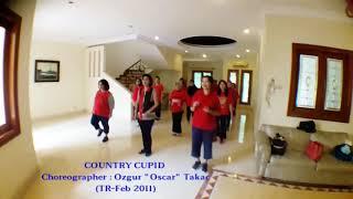 """COUNTRY CUPID - line dance by Ozgur """"Oscar"""" TAKAC (TR - Feb 2011)"""
