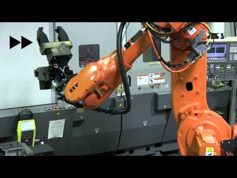 Automated Oil Coupling Cell -- Okuma CNC, Seco Tooling, ABB Robot