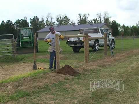 Horse Fence Installation Part 1 Of 2 Youtube