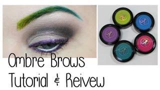 Green Ombre Brows Tutorial & Review: Anastasia Hyper Color