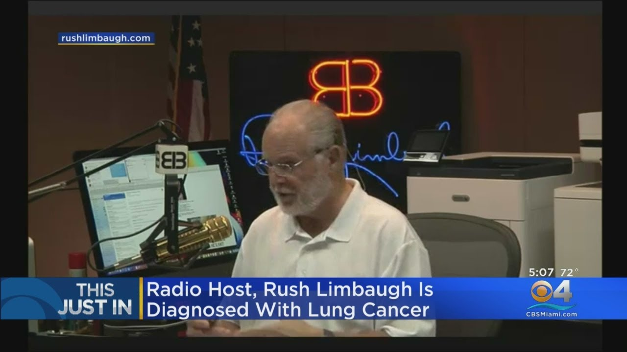 Radio Host Rush Limbaugh Diagnosed With Lung Cancer