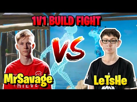 LeTsHe Challenged MrSavage To 1v1 Build Fight And This Happened..