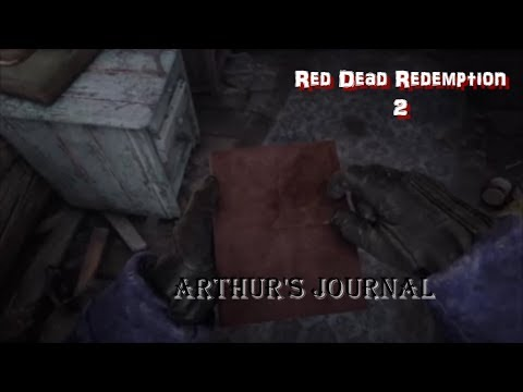 Rdr2 Arthur S Journal And The Clues You May Have Missed Youtube
