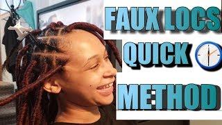 Faux Locs Easy Method