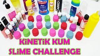 Kinetik Kumdan Ne Çıkarsa Slime Challenge - Kinetik Kum Presleme