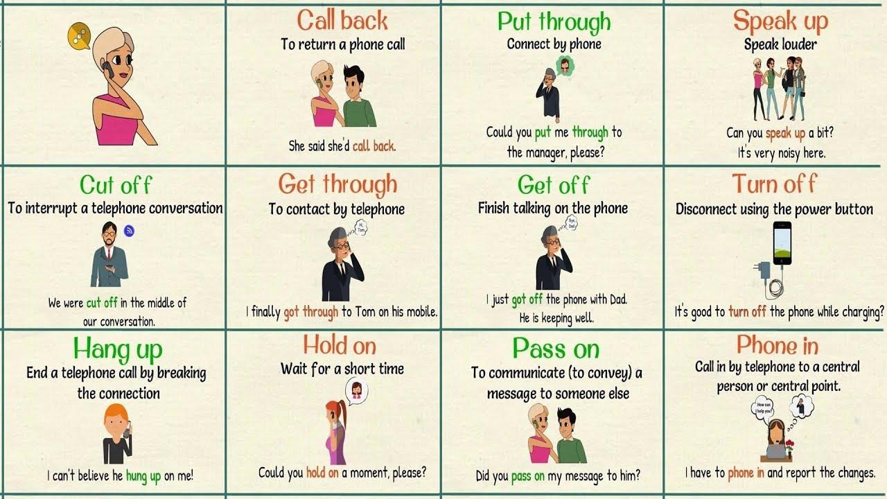 17 Useful Telephone Phrasal Verbs in English - 7 E S L