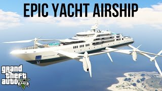 ★ GTA 5 - EPIC FLYING YACHT MOD! (GTA V PC Mods Gameplay & Funny Moments)