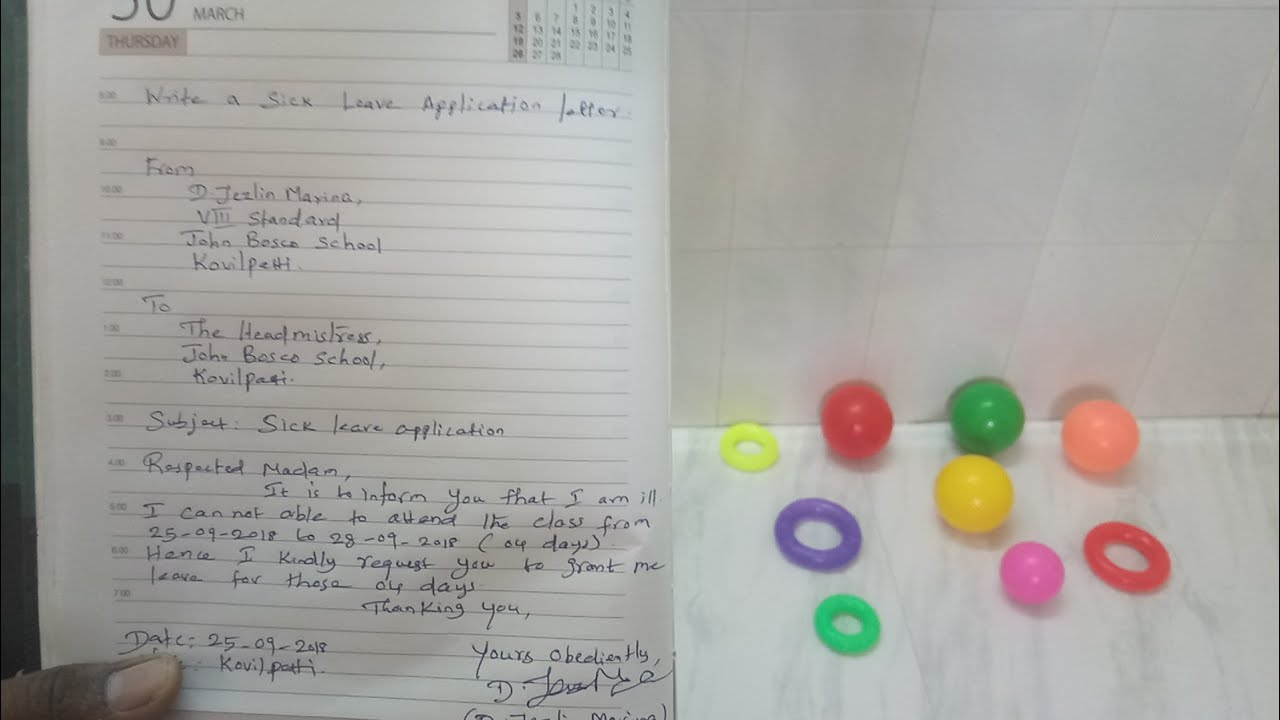 How to write sick leave application letter to headmaster