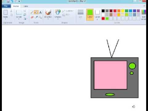 Tutorial Paint Menggambar Radio Dan Televisi Youtube