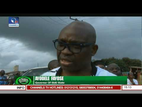 Ekiti Flyover Bridge: State Govt. Demolishes Houses As Project Commences