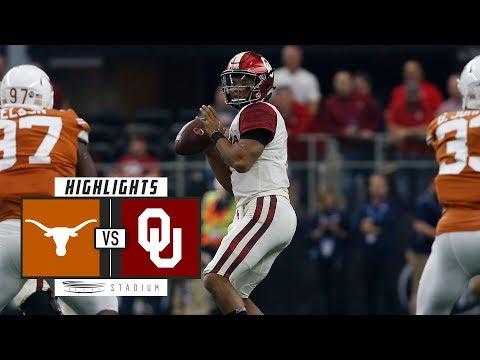 No. 14 Texas vs. No. 5 Oklahoma Football Highlights (2018) | Stadium