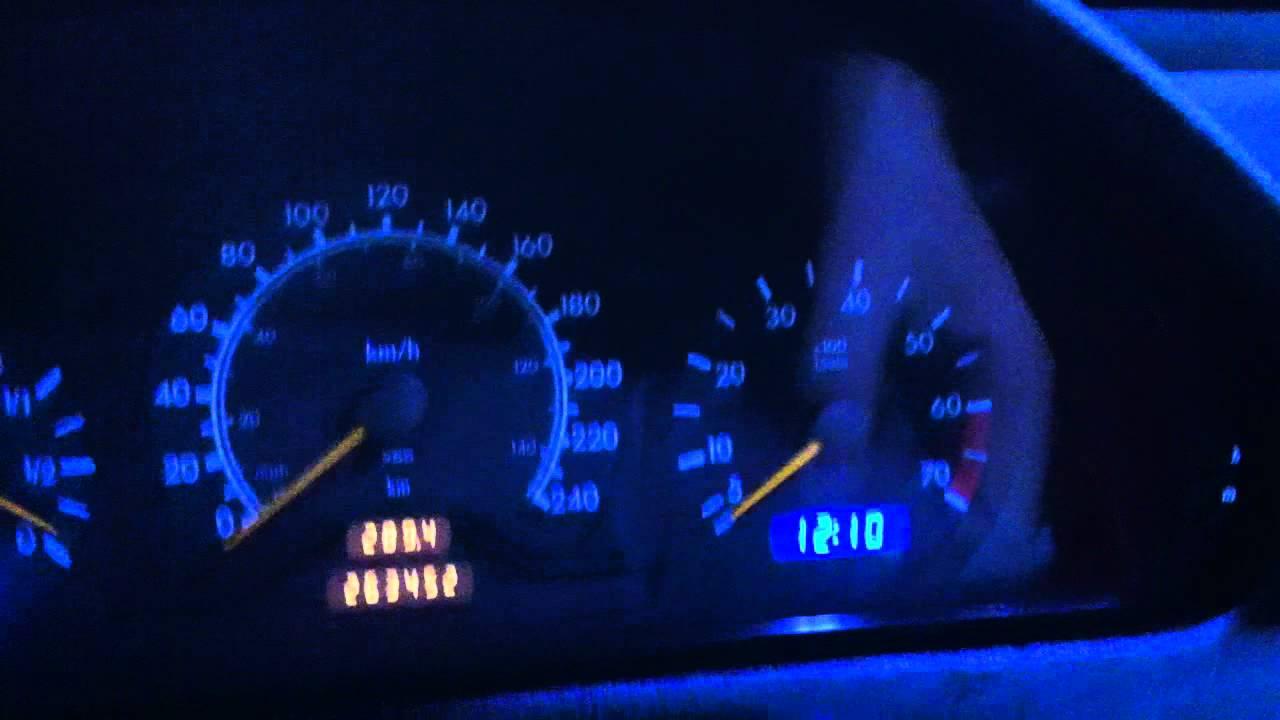 Mercedes Benz W202 Blue LED Dash Lights YouTube