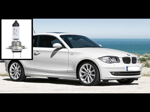 How to replace front light bulbs - BMW 1 Series