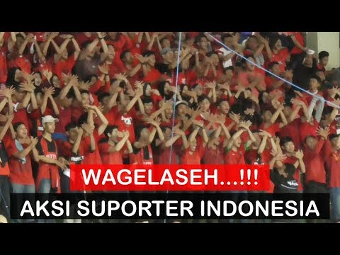 Wagelaseh! Aksi Suporter Indonesia di AFF Futsal Championship 2018 (Indonesia Vs Malaysia)
