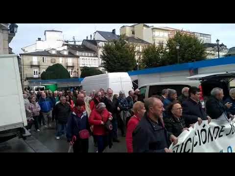 Los jubilados de Lugo salen de nuevo a la calle para exigir pensiones dignas