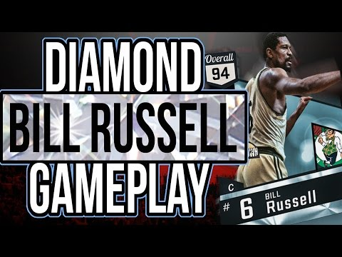 NBA 2K17 MYTEAM DIAMOND BILL RUSSELL GAME PLAY! SO UNDERRATED!