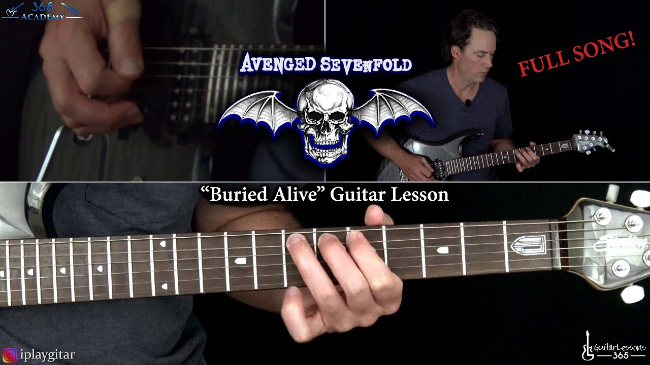 Avenged Sevenfold - Buried Alive Guitar Lesson (Full Song)