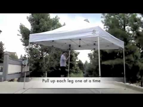 One Person Setup For Instant Canopy