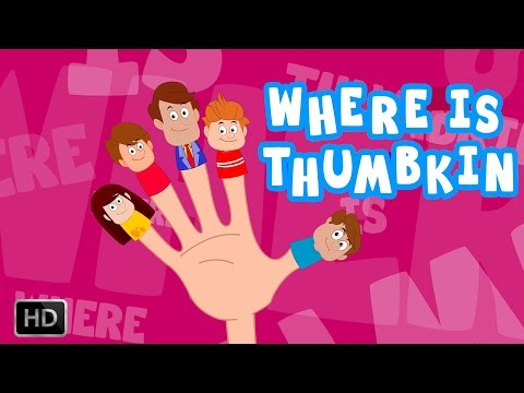 Where is Thumbkin - Finger Family Song with Lyrics for Kids