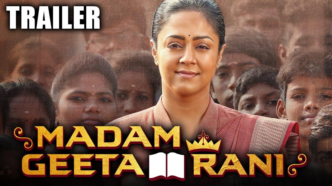 Download Madam Geeta Rani (Raatchasi) 2020 Official Trailer Hindi Dubbed   Jyothika, Hareesh Peradi
