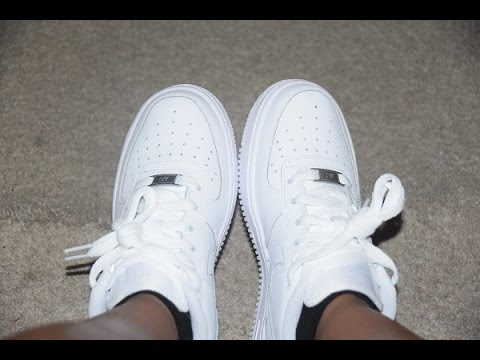 Nike Air Force 1 Low GS On Feet: Nike Air Force 1 Low GS - YouTube