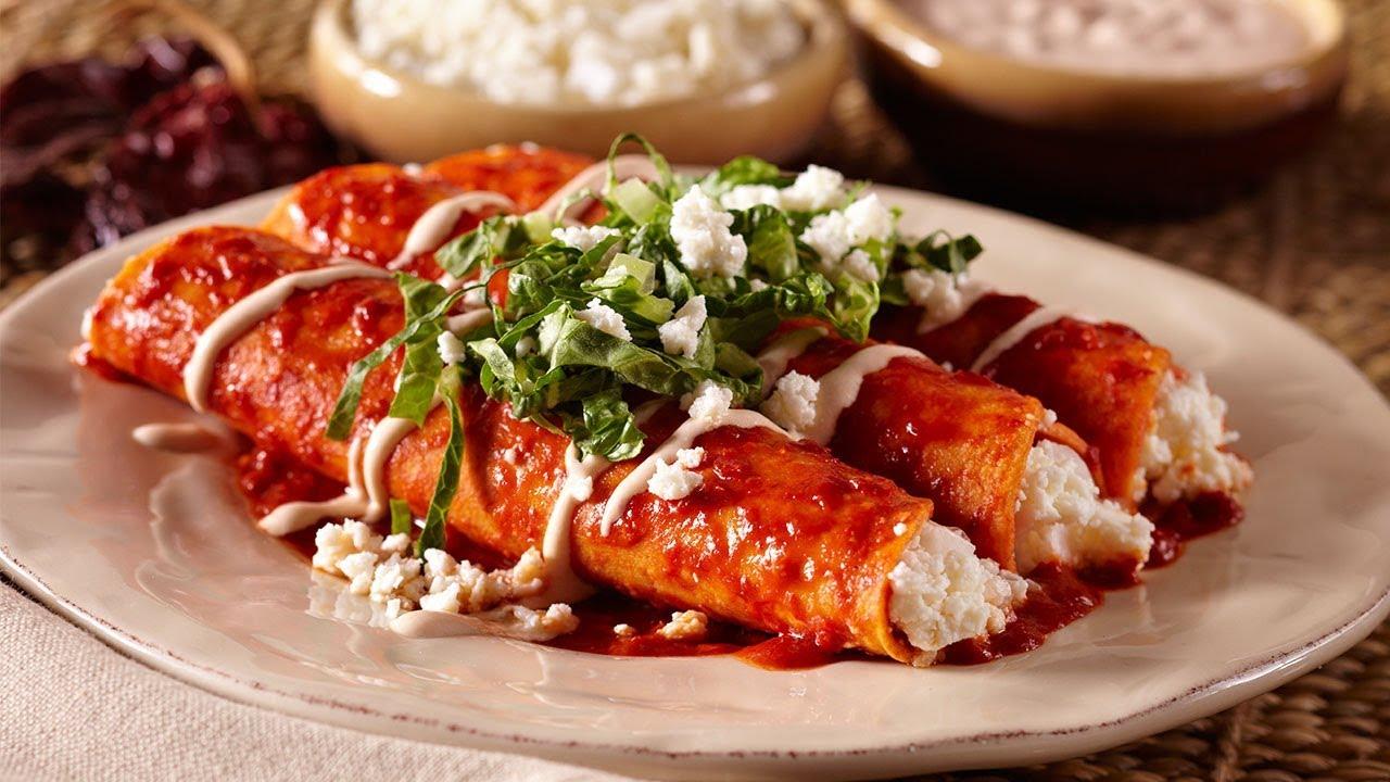 Authentic Queso Fresco Enchiladas - YouTube
